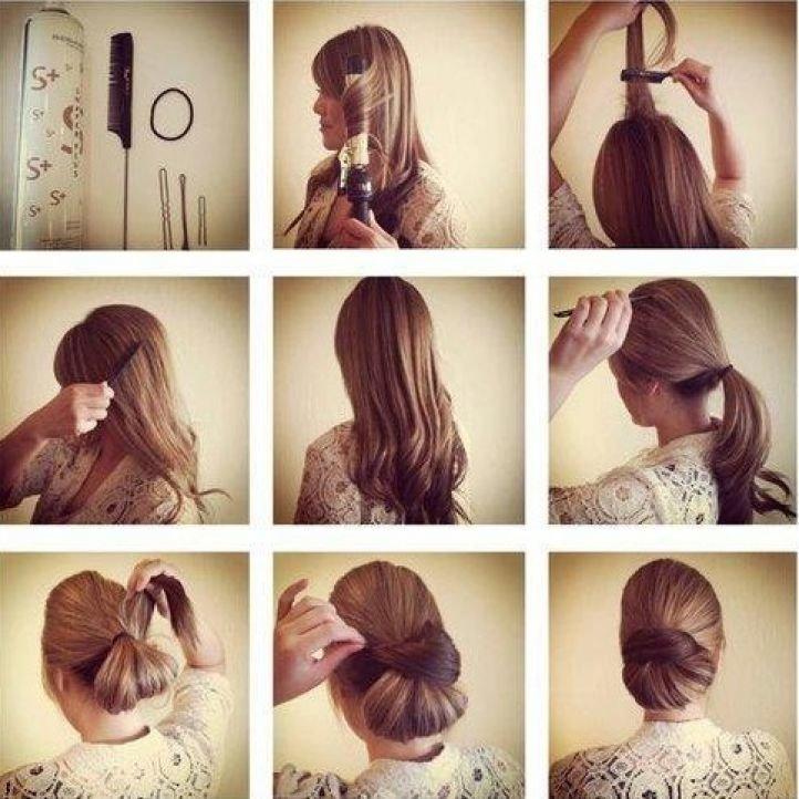 Интересные причёски на длинные волосы на каждый день своими руками 455