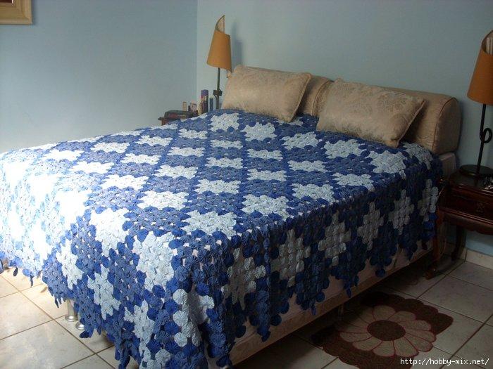 Покрывало на кровать своими руками из джинсов 91