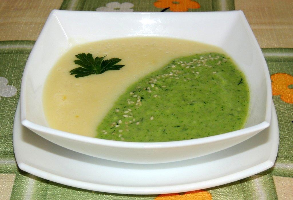 суп пюре с капустой и кабачками и