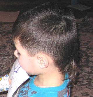 Стрижка мальчику сзади с хвостиком