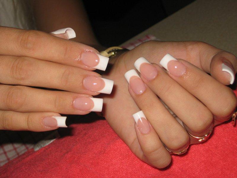 Фото нарощенные ногти с френчем
