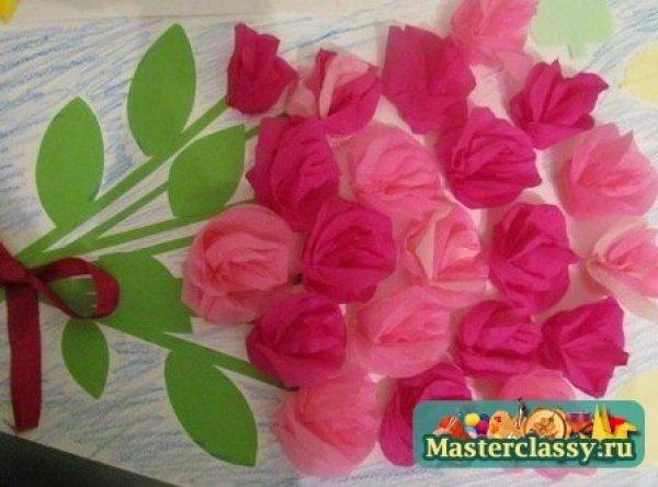 Цветы своими руками ватман 958