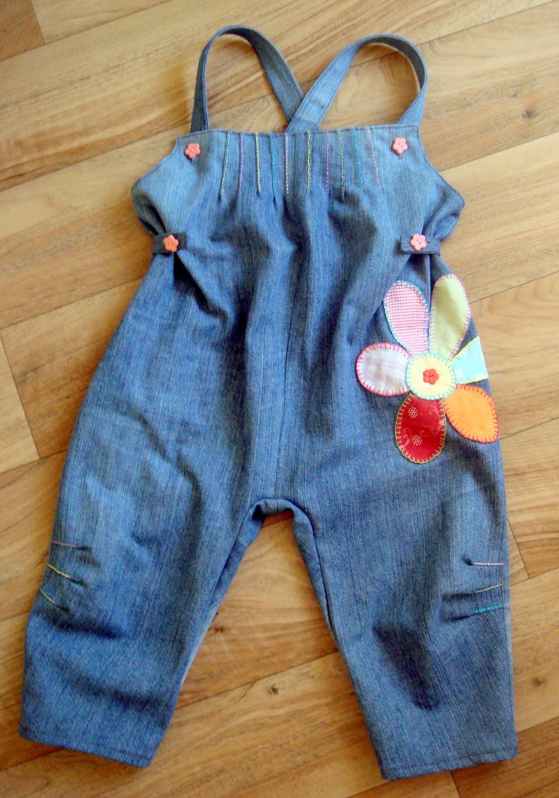 Детский комбинезон джинсовый сшить своими руками 5