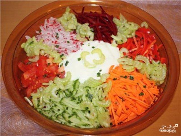 Салат костёр с