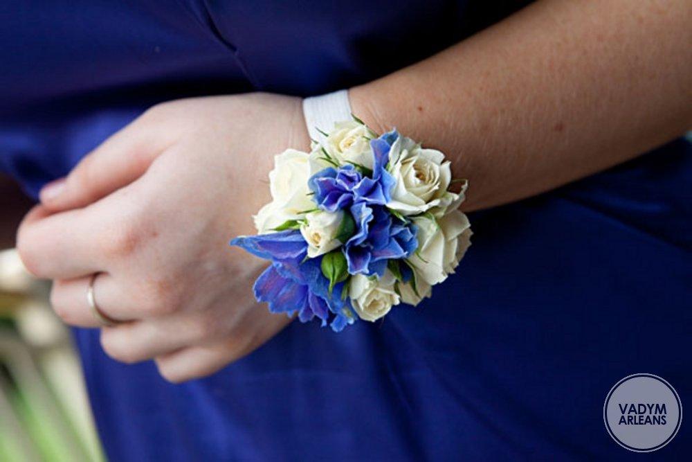 Бутоньерки синие своими руками 6