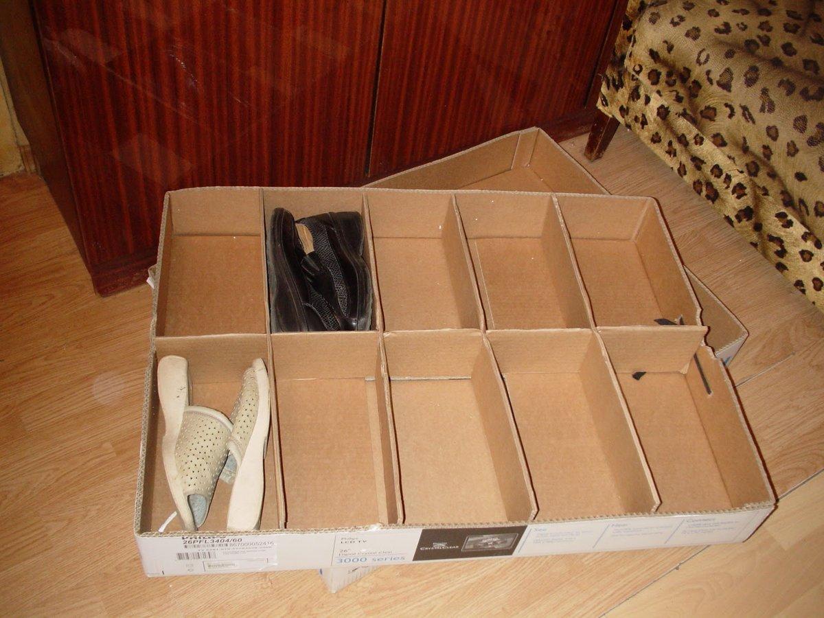 Системы хранения из картона своими руками