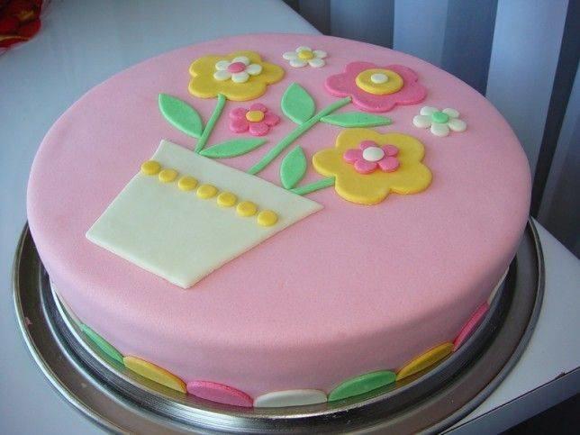 Торт для девочки с мастикой своими руками
