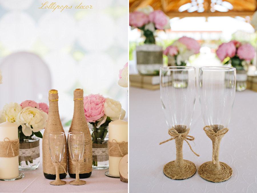 Декор для свадьбы в стиле рустик своими руками