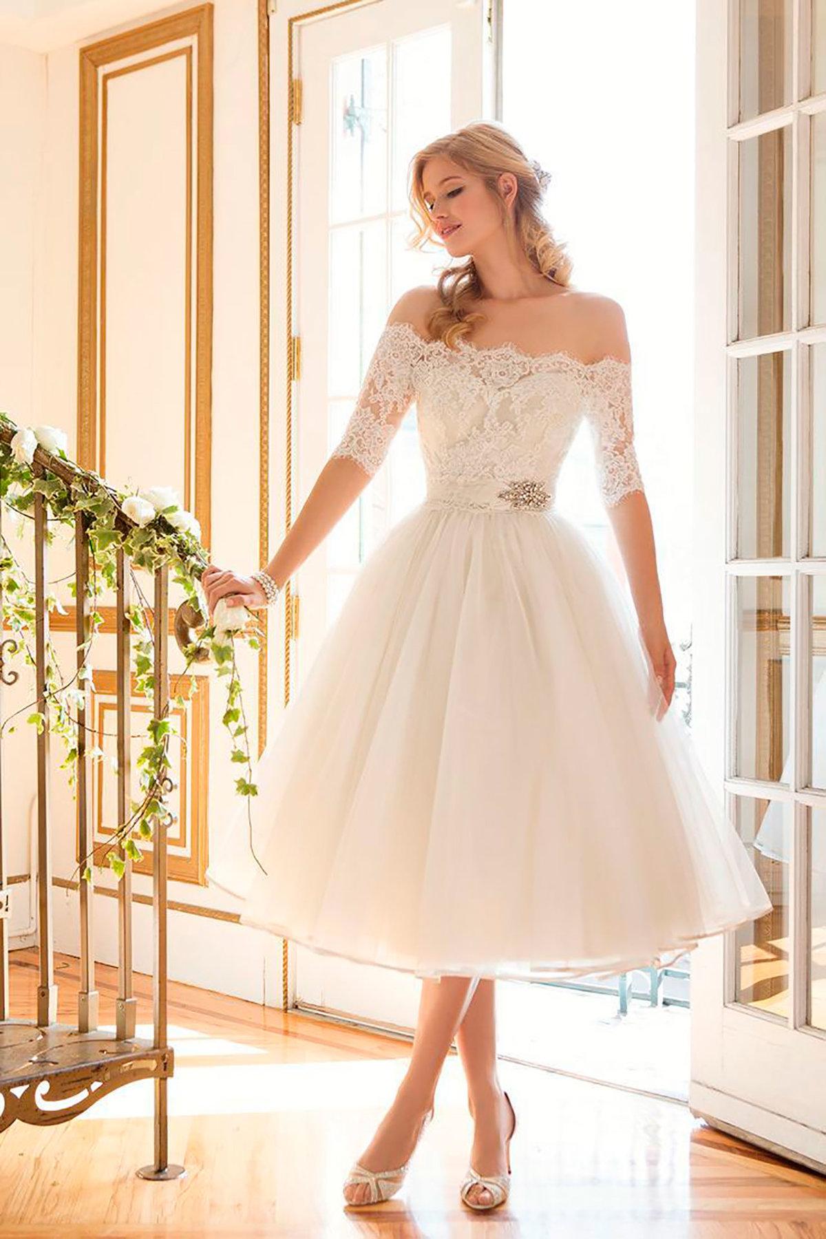 Свадебные платья короткое цены