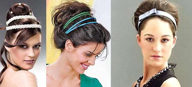Причёски с лентами в волосах простые