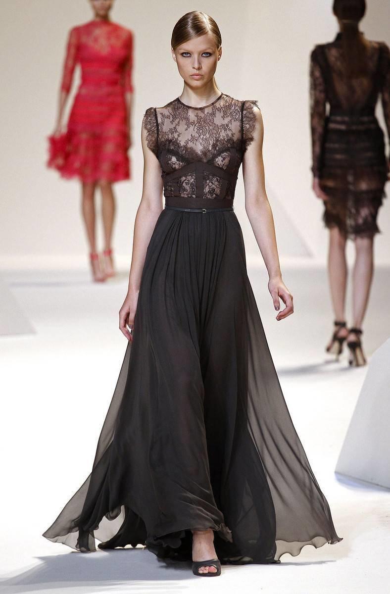 Стильные вечерние платья с кружевом