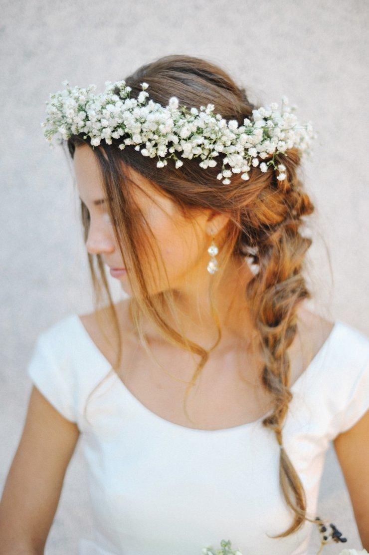 Свадебные прически венок
