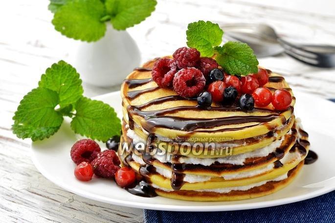 Рецепт панкейков с ягодами