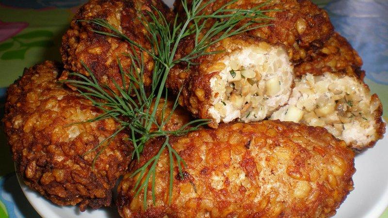 Блюда из мясного фарша с грибами рецепты
