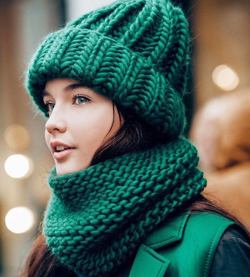 Мастер класс по вязанию спицами шарфы и шапки