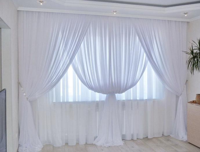 Как красиво оформить тюль на окне фото