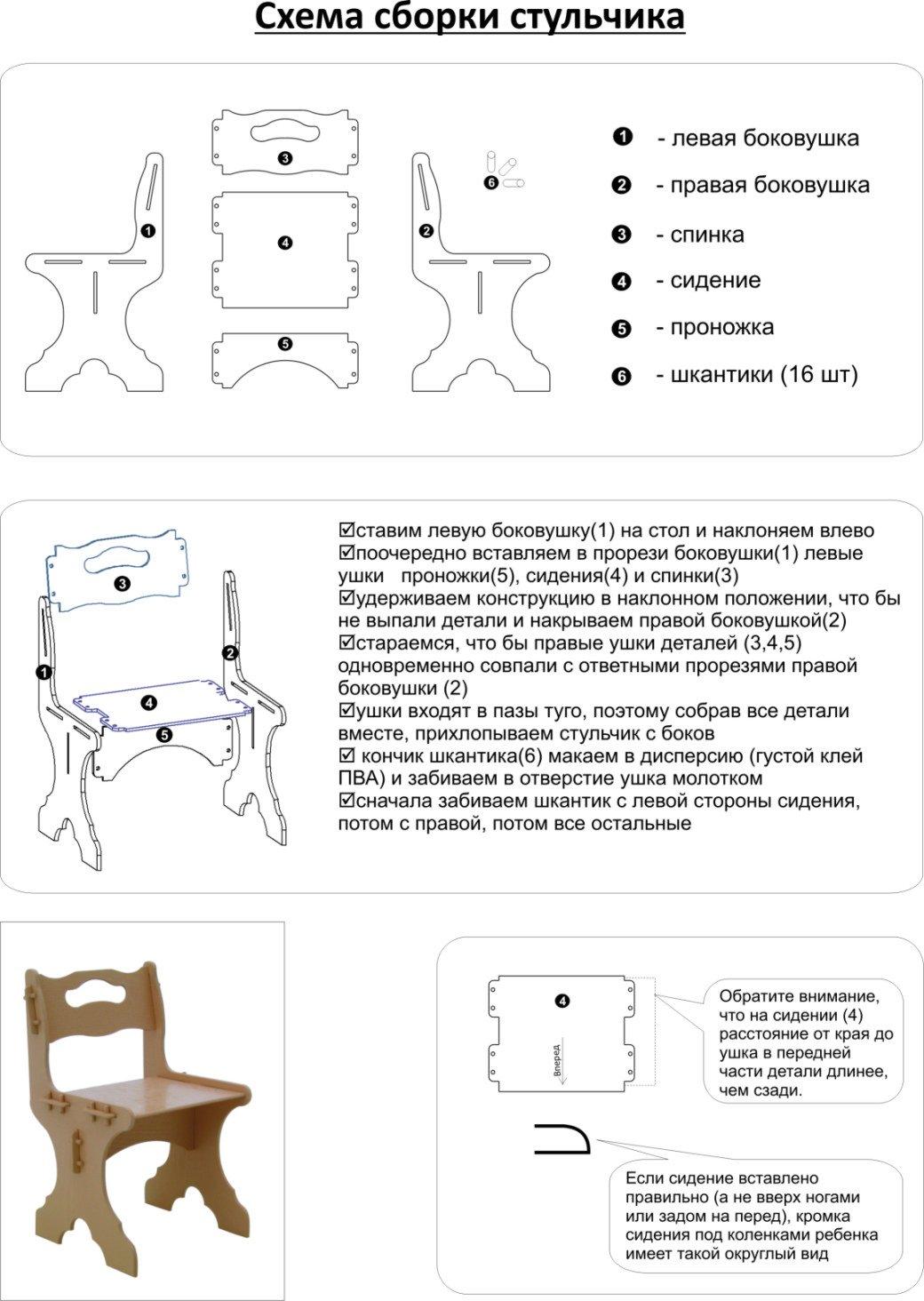 Кресло для кормления своими руками чертежи
