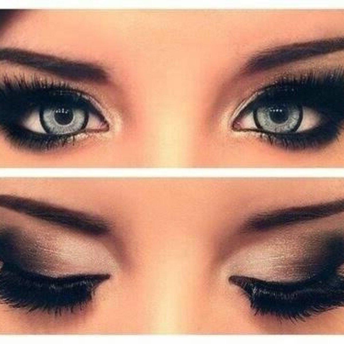 Как сделать глаза темными