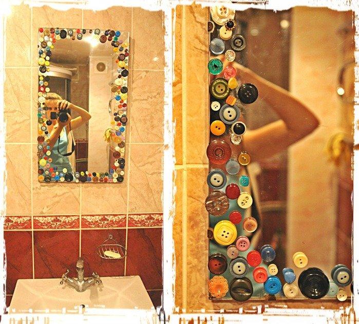 Как разукрасить зеркало своими руками