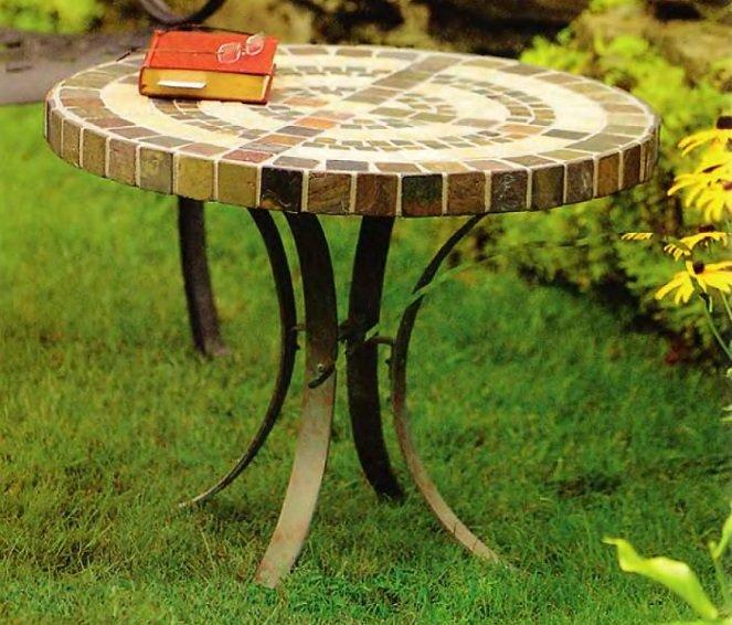 Как сделать садовый столик своими руками