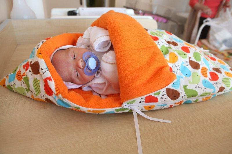Конверт для новорожденного на выписку сшить