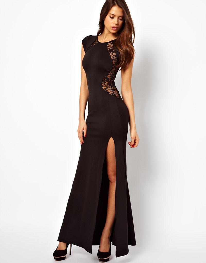 Длинное платье разрезом