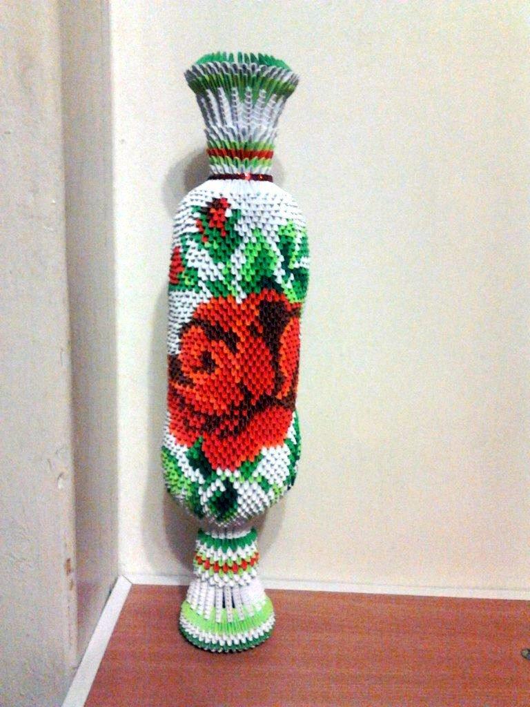 Большая напольная ваза своими руками из модулей 90