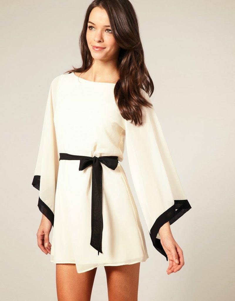 Платья с рукавом кимоно