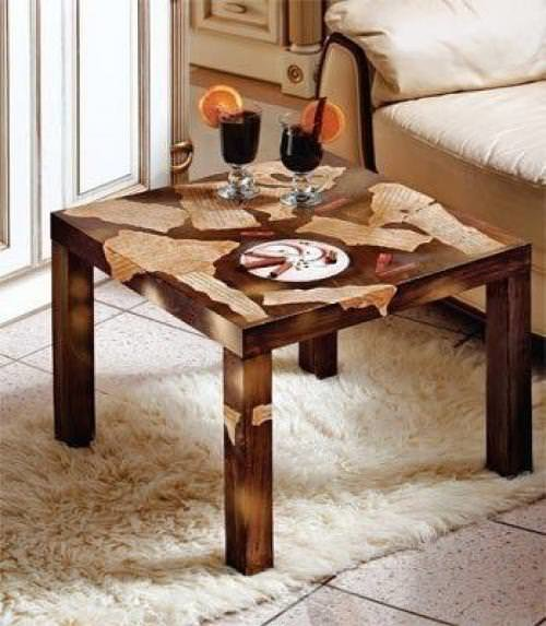 Декор журнального деревянного столика