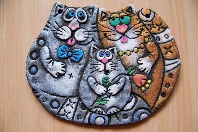 Коты из теста соленого