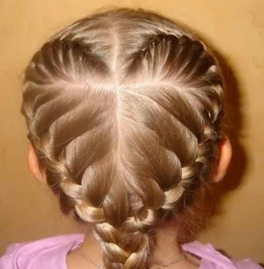 Прически для средних волос из кос
