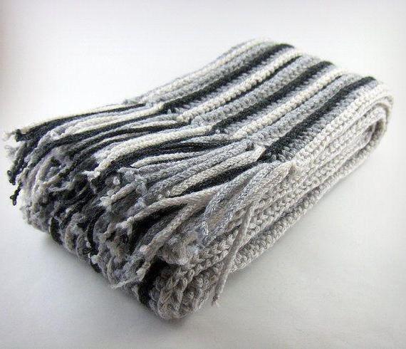 Вязание крючкоммужские шарфы 26
