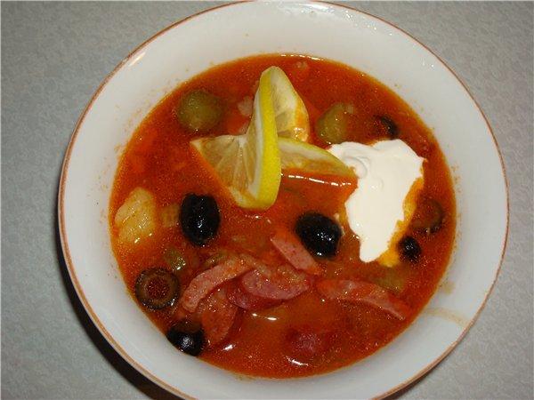 Рецепт суп солянка по-домашнему