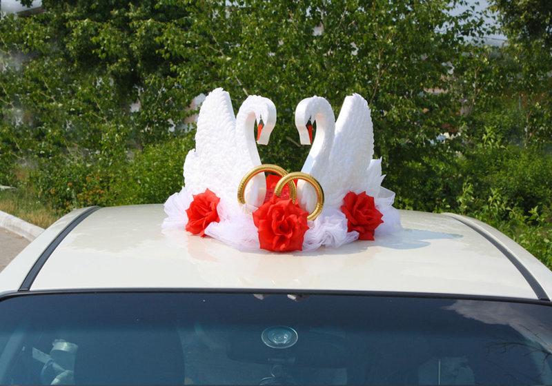 Украшения на крышу свадебной машины своими руками