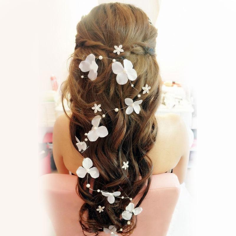 прически с цветами на длинные волосы своими руками
