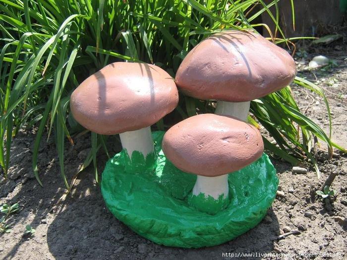 Как сделать грибы для дачи
