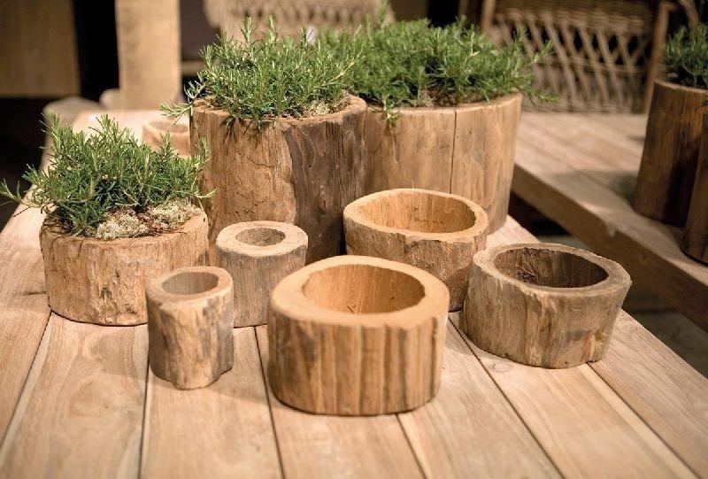Садовый интерьер из дерева своими руками