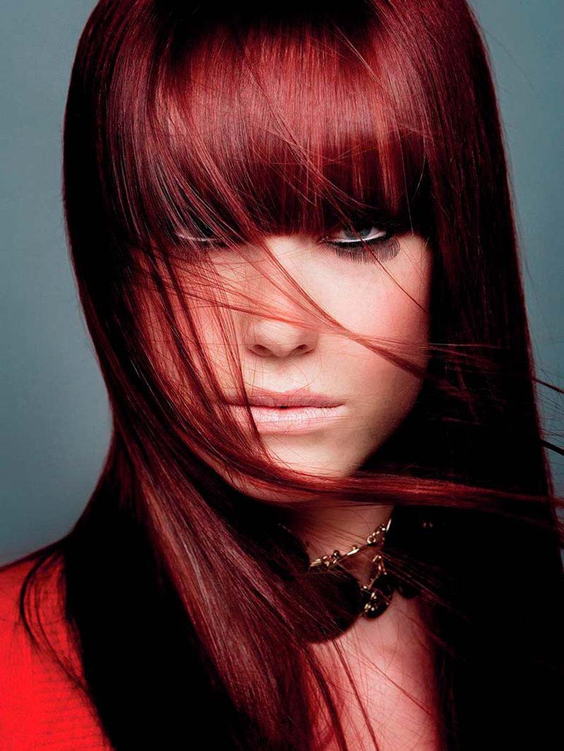 Красные тона волос фото