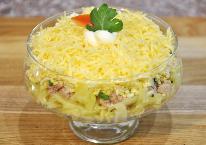 Салат нежность рецепт порционный