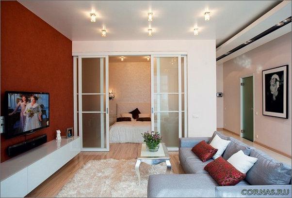 Однокомнатные квартиры с нишей дизайн интерьера фото