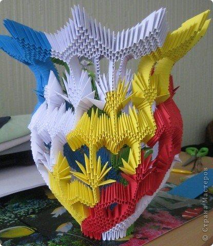 Поделки из модулей вазы картинки