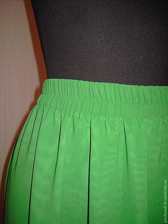 Как сшить шифоновую юбку на резинке 90