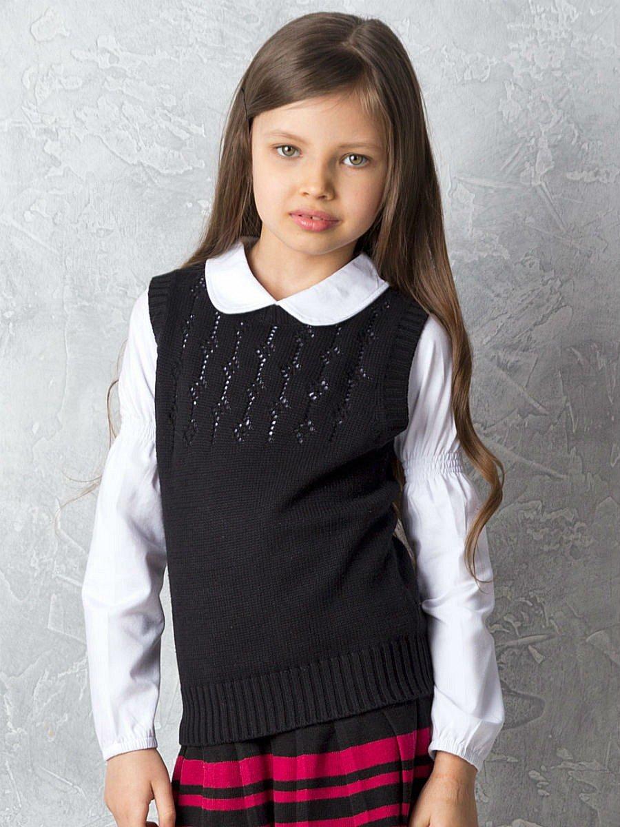 Вязанные школьные жилетки для девочек