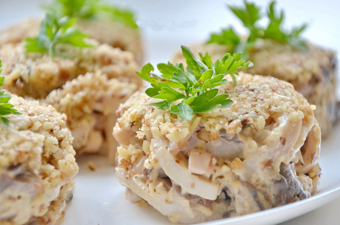 Салаты с курицей и орехами рецепты с простые и вкусные