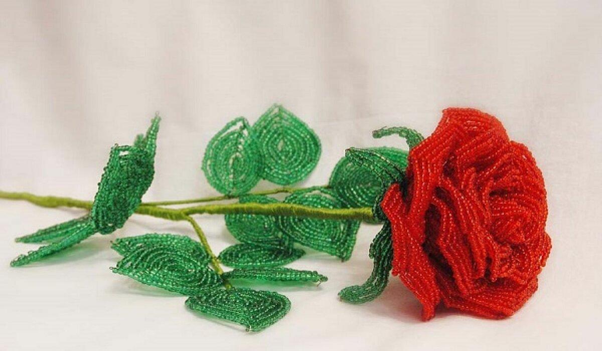 Ажурные розы из бисера мастер класс с пошаговым для начинающих