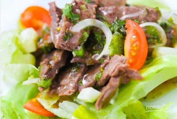 Салаты с мясом с пошагово