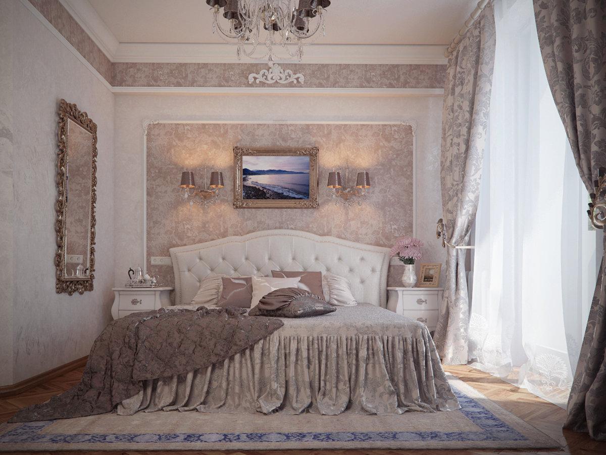 Спальни интерьер классика фото