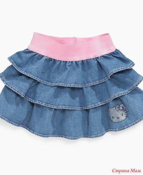Как сшить юбку для девочки из джинса 38