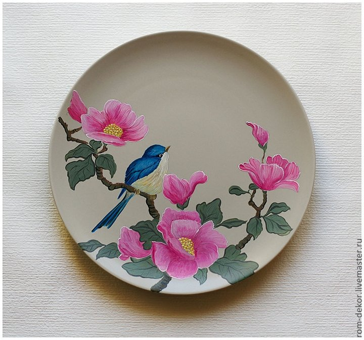 Декоративная роспись тарелок