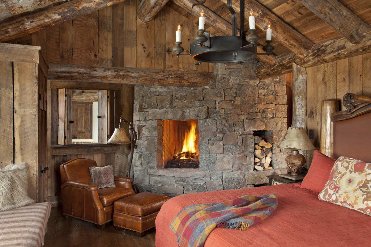Дизайн комнаты в стиле рустик